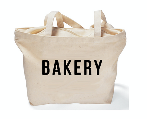 """Bakery"" Zippered Tote"