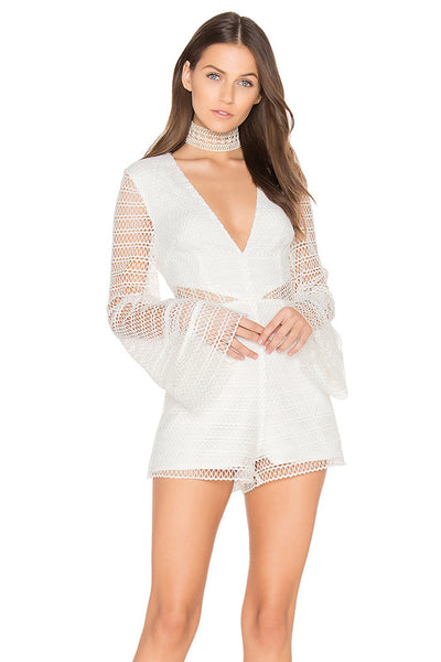 All Night Lace Playsuit