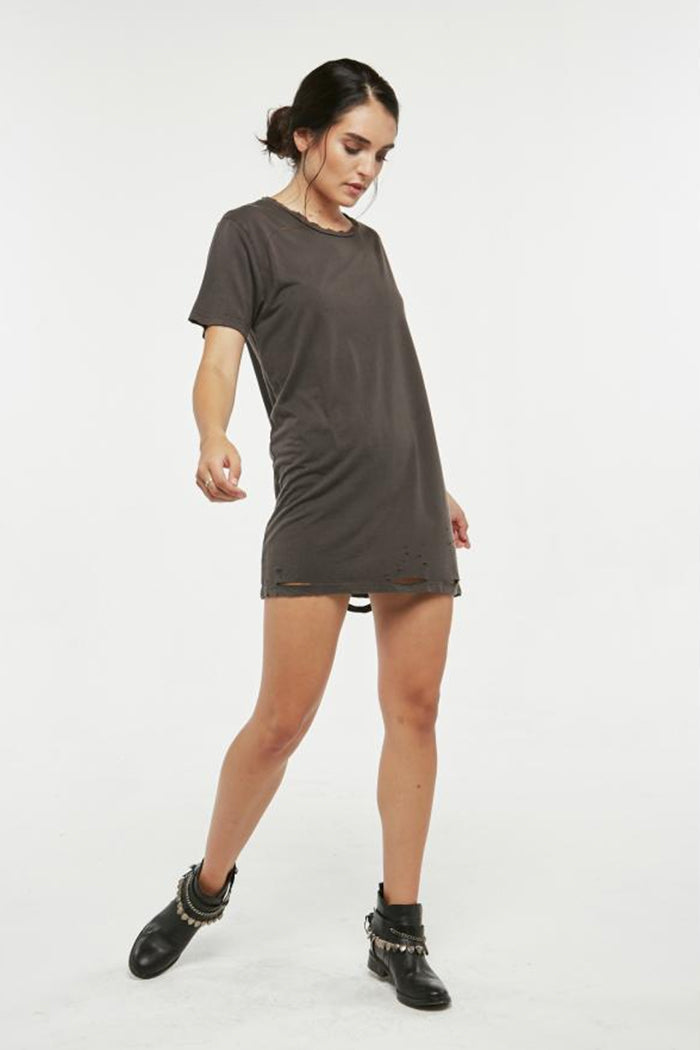 Lugo Distressed T-Shirt Dress