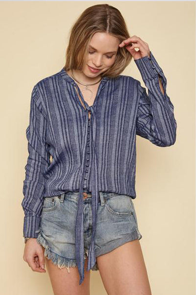 Stripe Mimosa Top