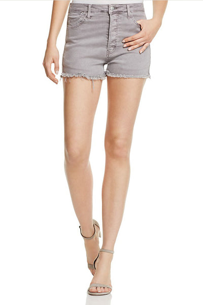 Austin High Rise Denim Cutoff Shorts in Grape Pigment