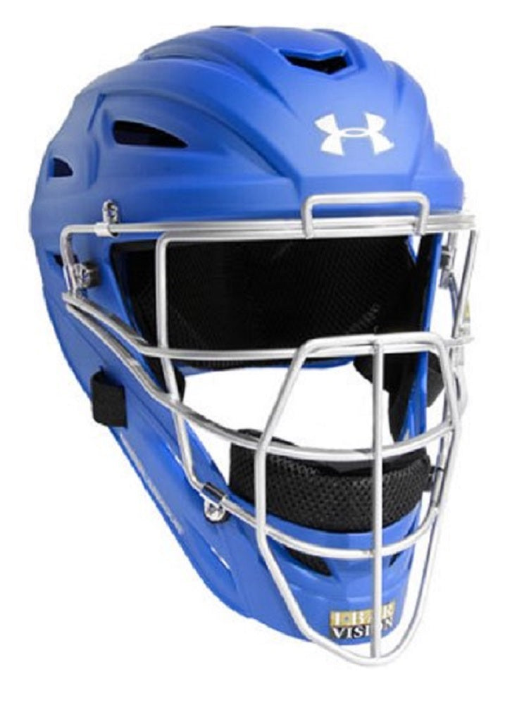 Under Armour Youth Professional Matte Finish Catcher's Helmet Royal (7-12 yrs)