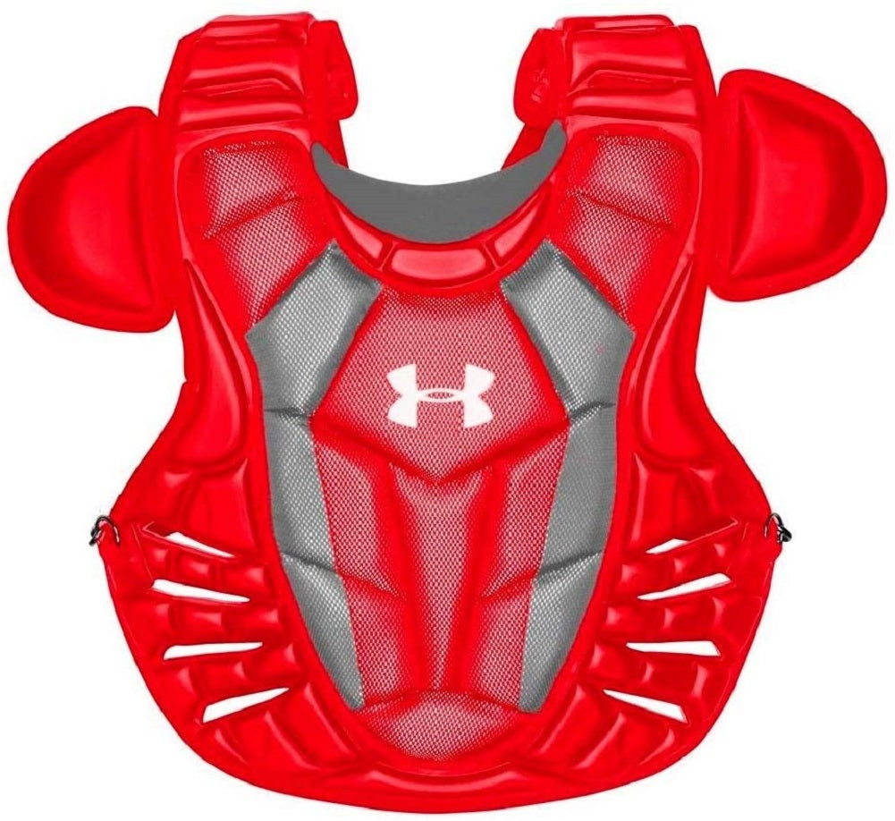 Under Armour Converge Adult Professional Chest Protector Scarlet 16.5""