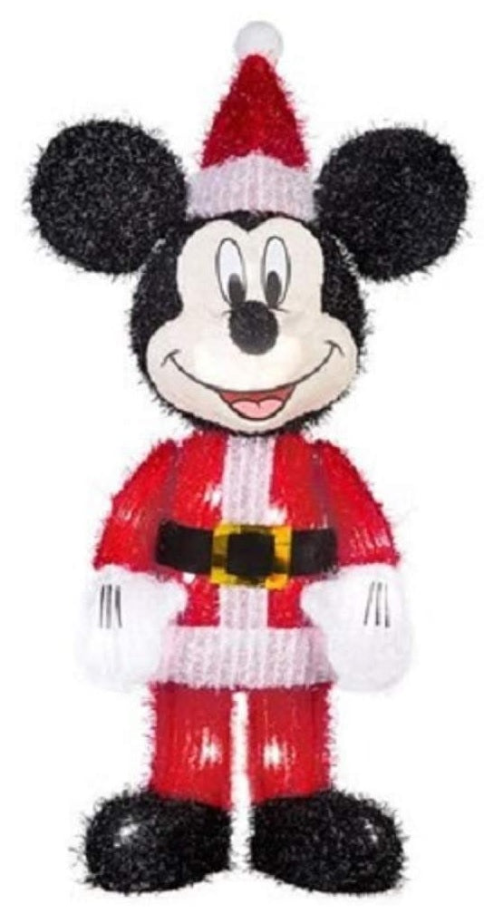 Gemmy Mickey Mouse Lighted Tinsel Yard Decoration
