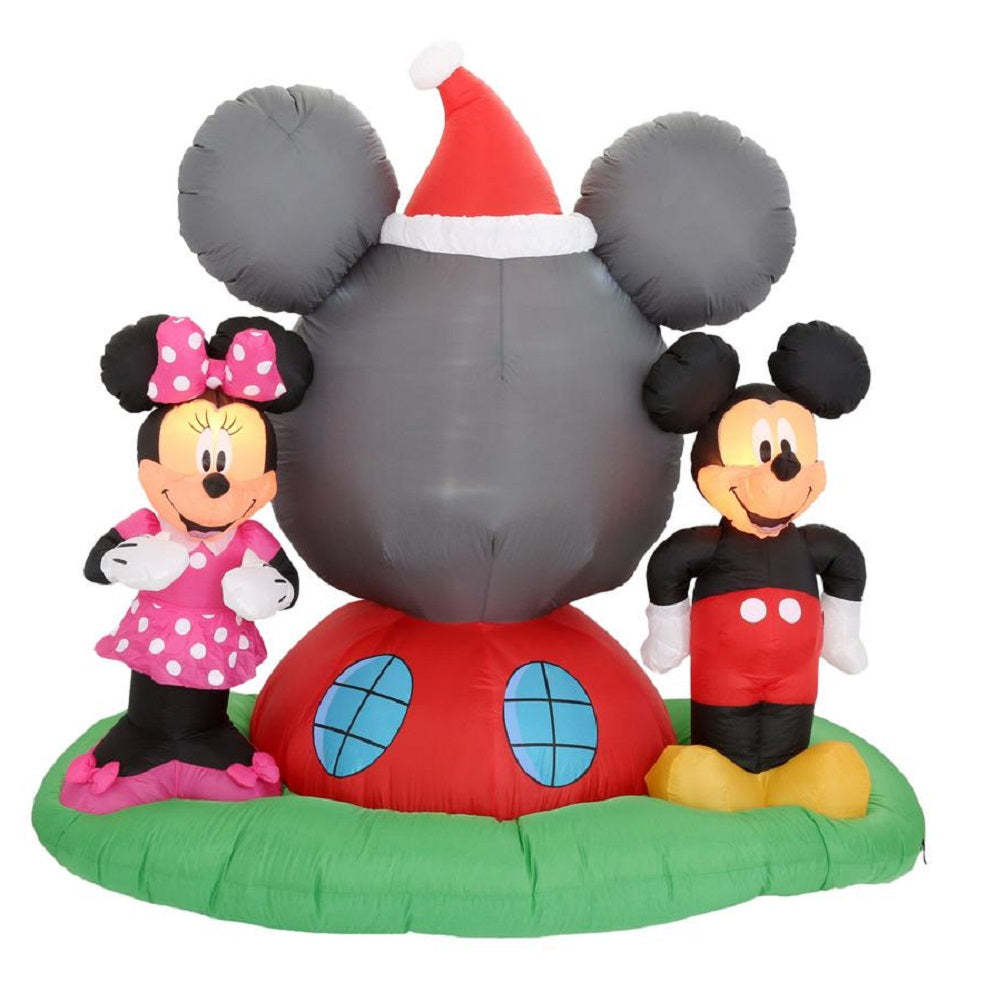 Gemmy 6.5 ft. H Panoramic Projection Inflatable Mickey Mouse's Clubhouse Scene