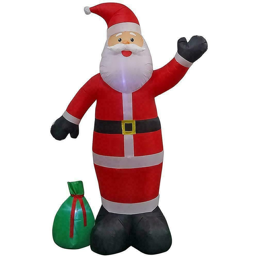 Home Accents Holiday 9 ft Giant-Sized LED Santa Claus with Gift Sack Inflatable