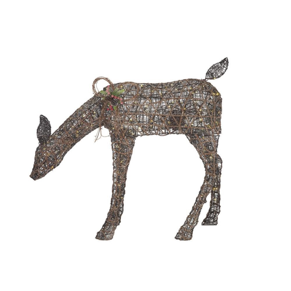 Home Accents Holiday 3.5 ft Meadow Frost ANIMATED LED Brown Doe
