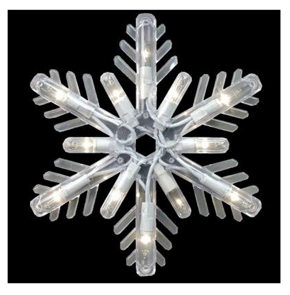 GE Random Sparkle 10-Count 150 Light Snowflake Icicle-Style Lights, Clear