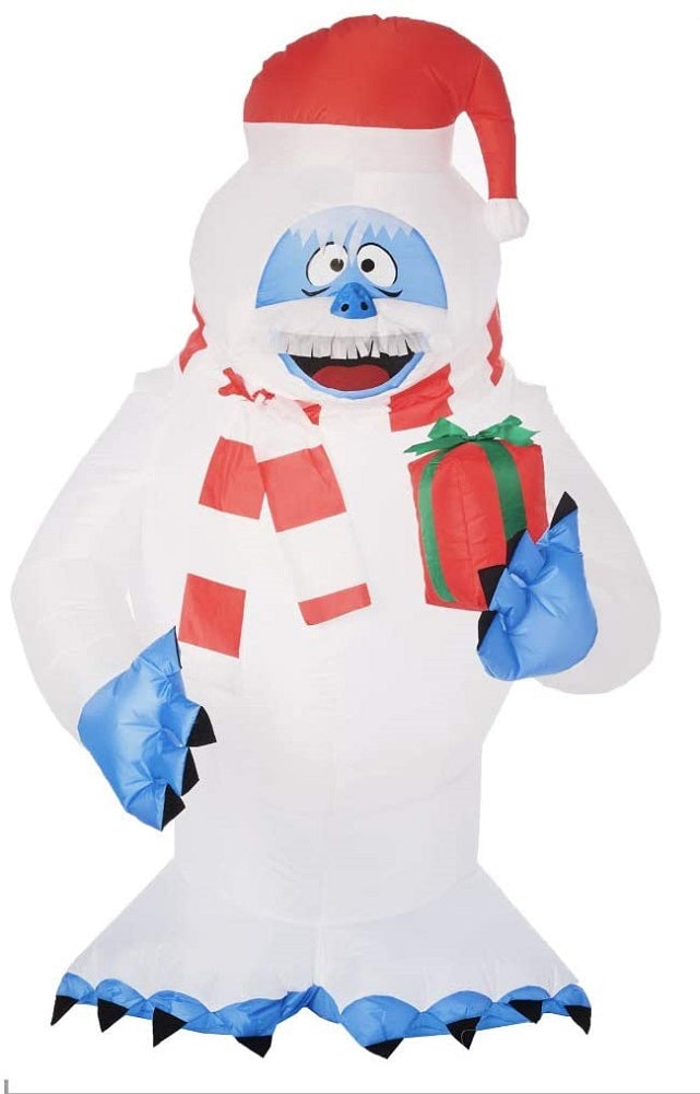 Rudolph the Red-Nosed Reindeer 5 FT Airblown Inflatable Bumble Holding a Gift
