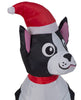 Holiday Time Light Up Inflatable Boston Terrier