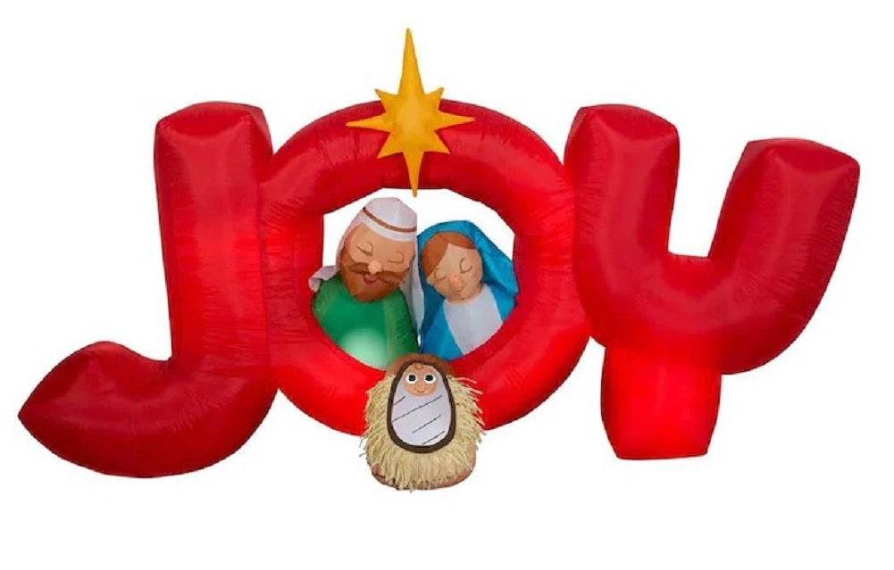 Airblown Inflatable 8.5 FT Wide Joy Nativity Scene Holiday Decoration