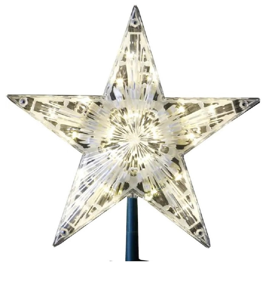 GE Stay Bright 20 LED Crystal Star Tree Top