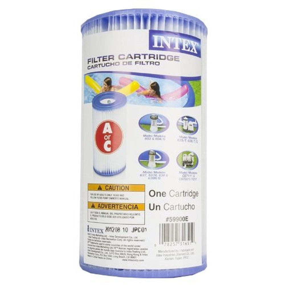 Intex Type A Easy Set Pool Filter Cartridge 12 Pack 29000E 59900E