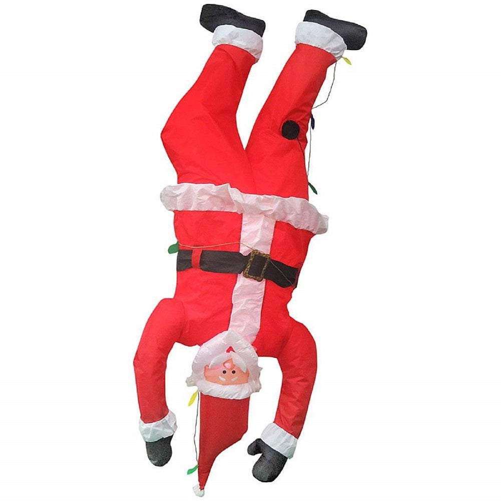 Christmas Inflatable 6.5' Upside Down Hanging Santa