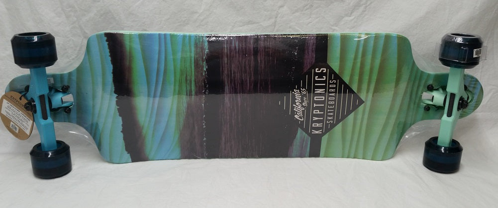 "Kryptonics Rolling Waves Drop Down Longboard 34"" Complete Skateboard"