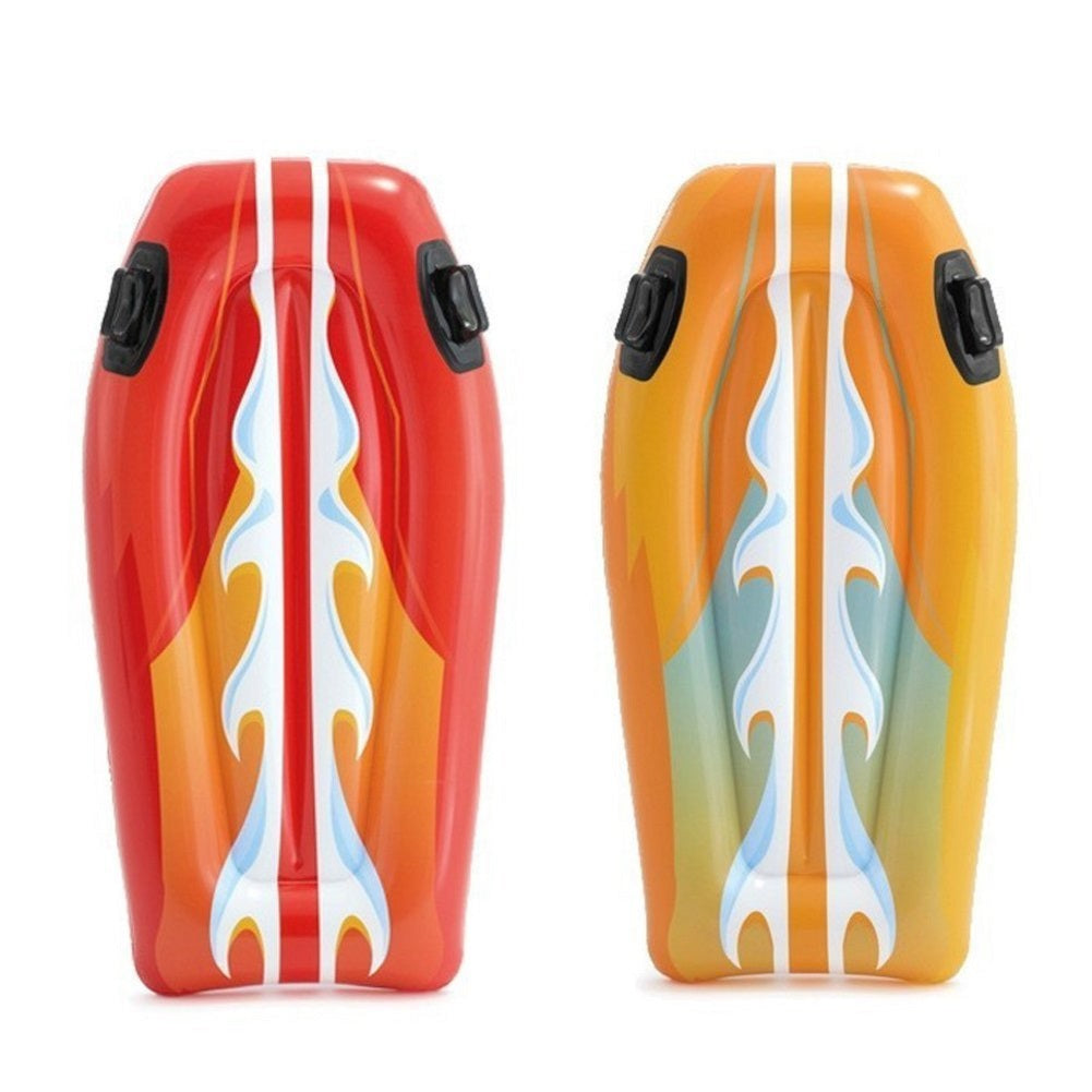 Intex Joy Rider Surf and Slide Pool Floats Set, 2 Pack Red and Orange