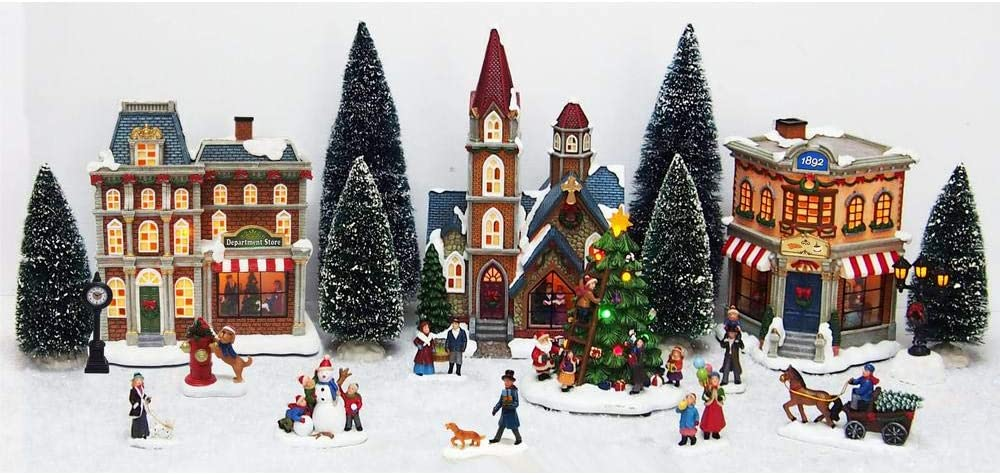 Home Accents 12.6 in. 20-Piece Christmas Village Scene