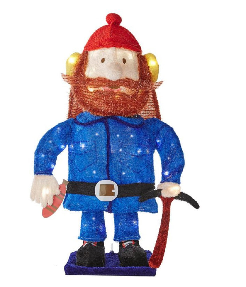 Pre-lit Rudolph the Red Nosed Reindeer 24-Inch Yukon Cornelius Yard Art