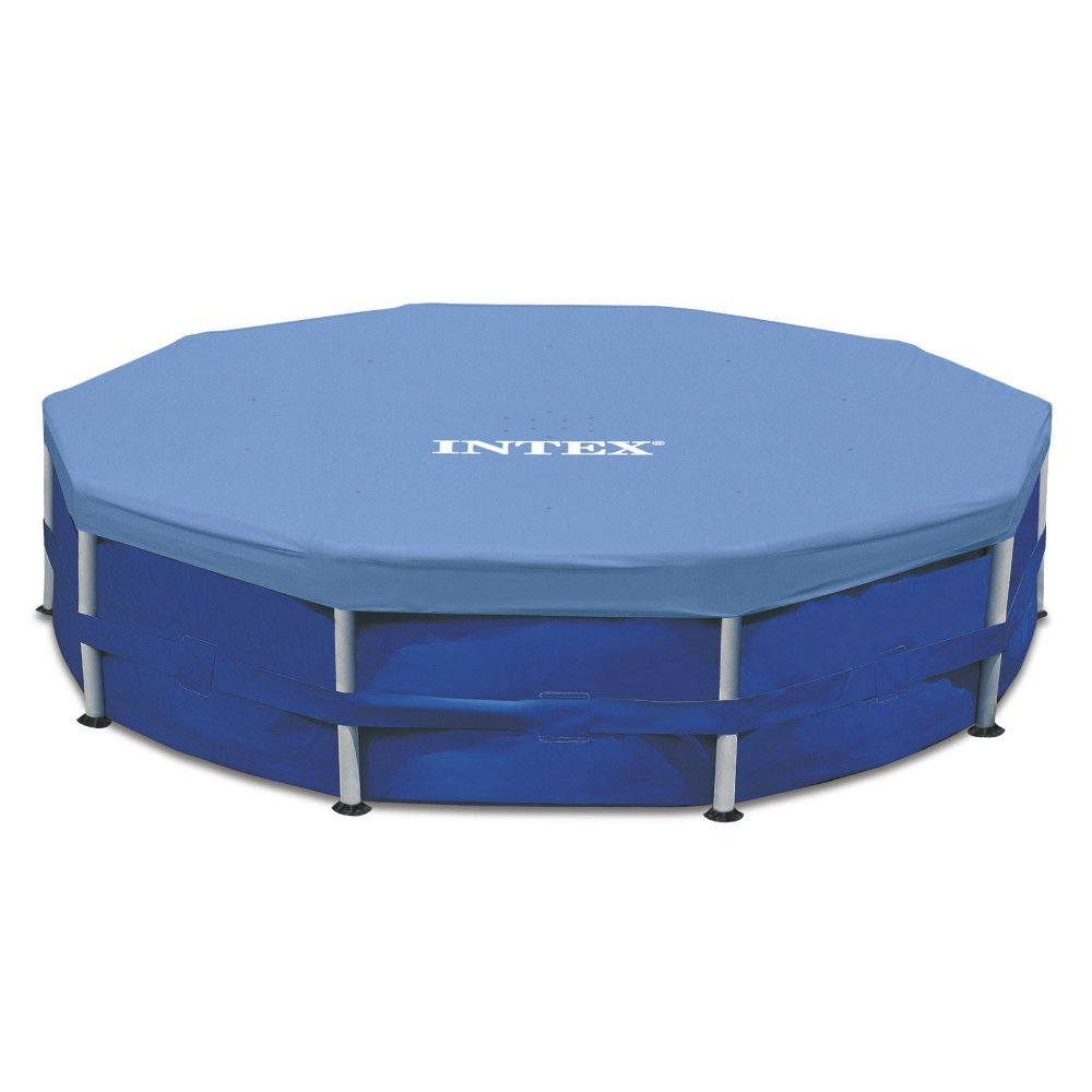 Intex 15-Foot Round (10-inch overhang) Pool Cover, Blue