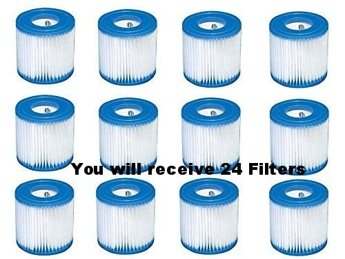 Intex 29007E Filter H Pool Cartridge Filter New 2015-Pools 24 Pack