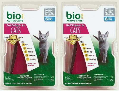 Bio Spot Active Care Flea & Tick Spot On for Cats Under 5 lbs 12 month BioSpot