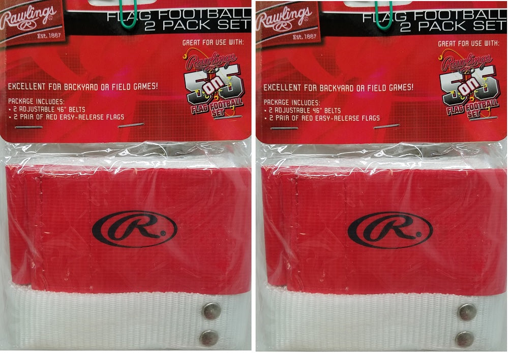 Rawlings Flag Football 2 Pack Adjustable Belts and Easy Release Flags 2-Pack