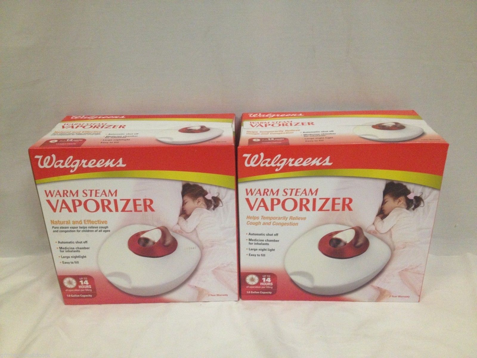 Warm Steam Vaporizer 2100WGN Medicine Chamber 1 Gallon Capacity 2 Pack Walgreens