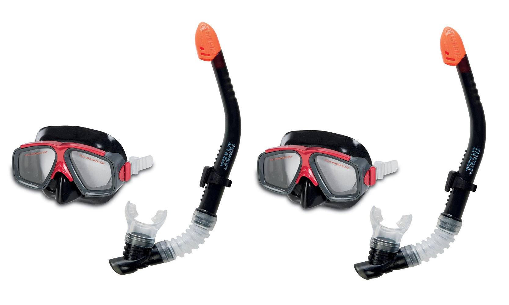 INTEX Surf Rider Adult Swimming / Diving Mask & Snorkel (Set of 2) | 55949