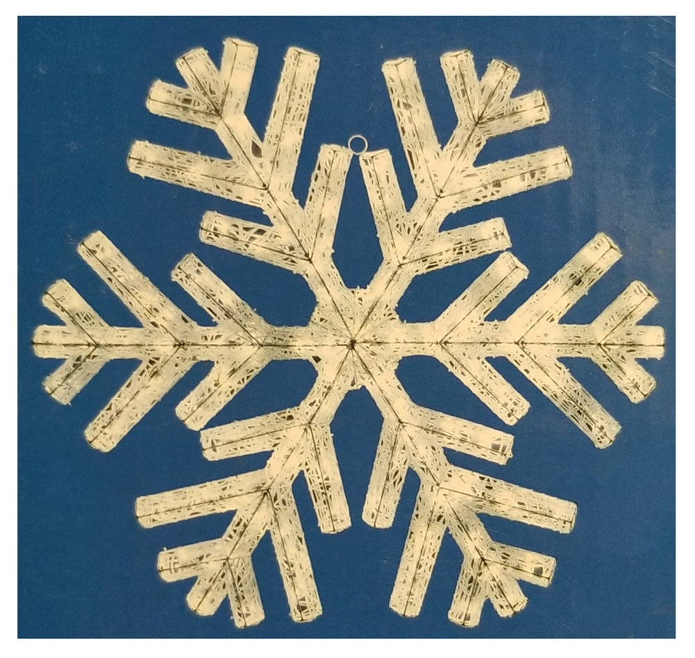 36-inch Sparkling Lighted Snowflake with LED Lights