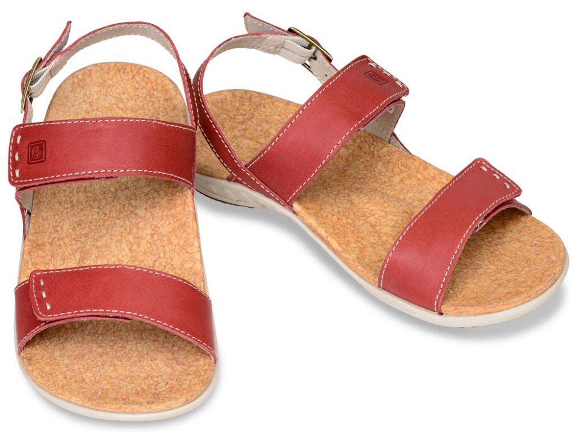 Spenco Alex Women's Strap Orthotic Sandals - Robin Red - Size 7