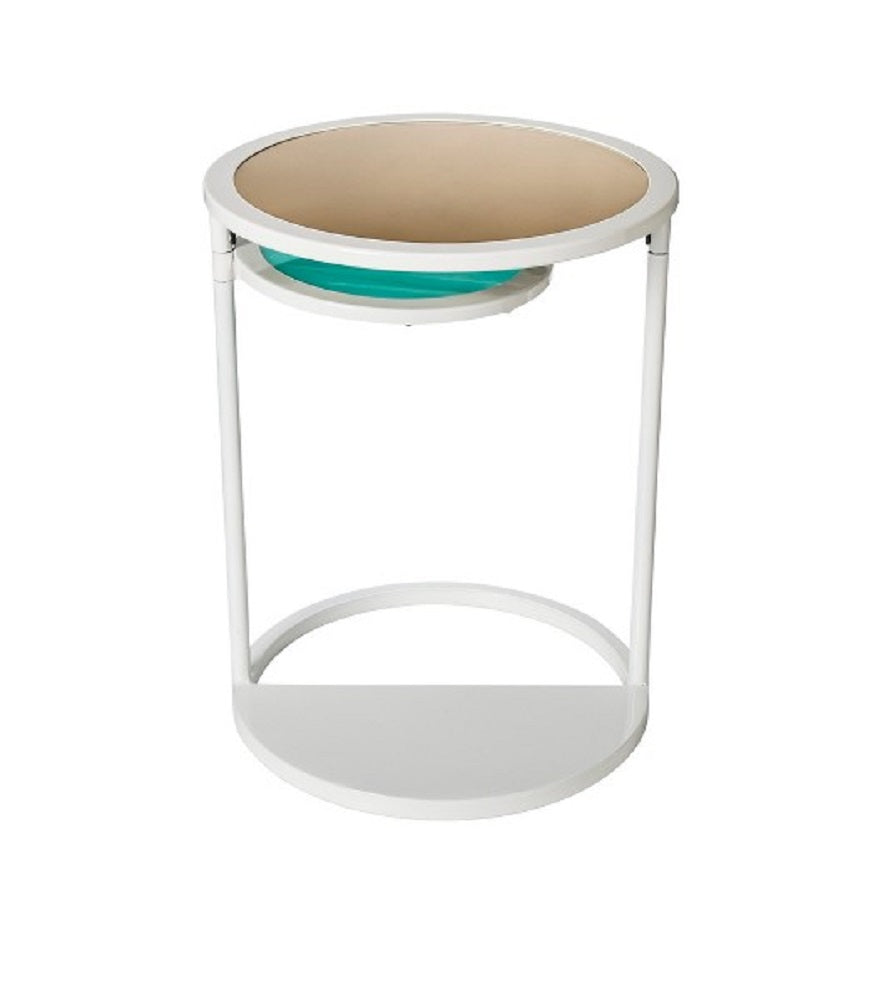 Oh Joy Round Swivel Accent Table White