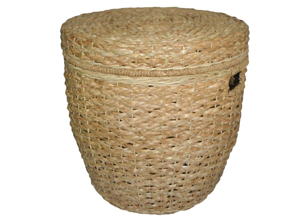 Threshold Seagrass Lidded Round Storage Basket
