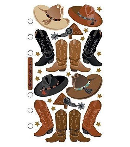 Stickopotamus Stickers Cowboy Hats and Boots (Style # Sp-pc-08)