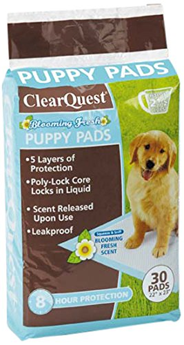 Clear Quest 30 Count Blooming Fresh Puppy Pads
