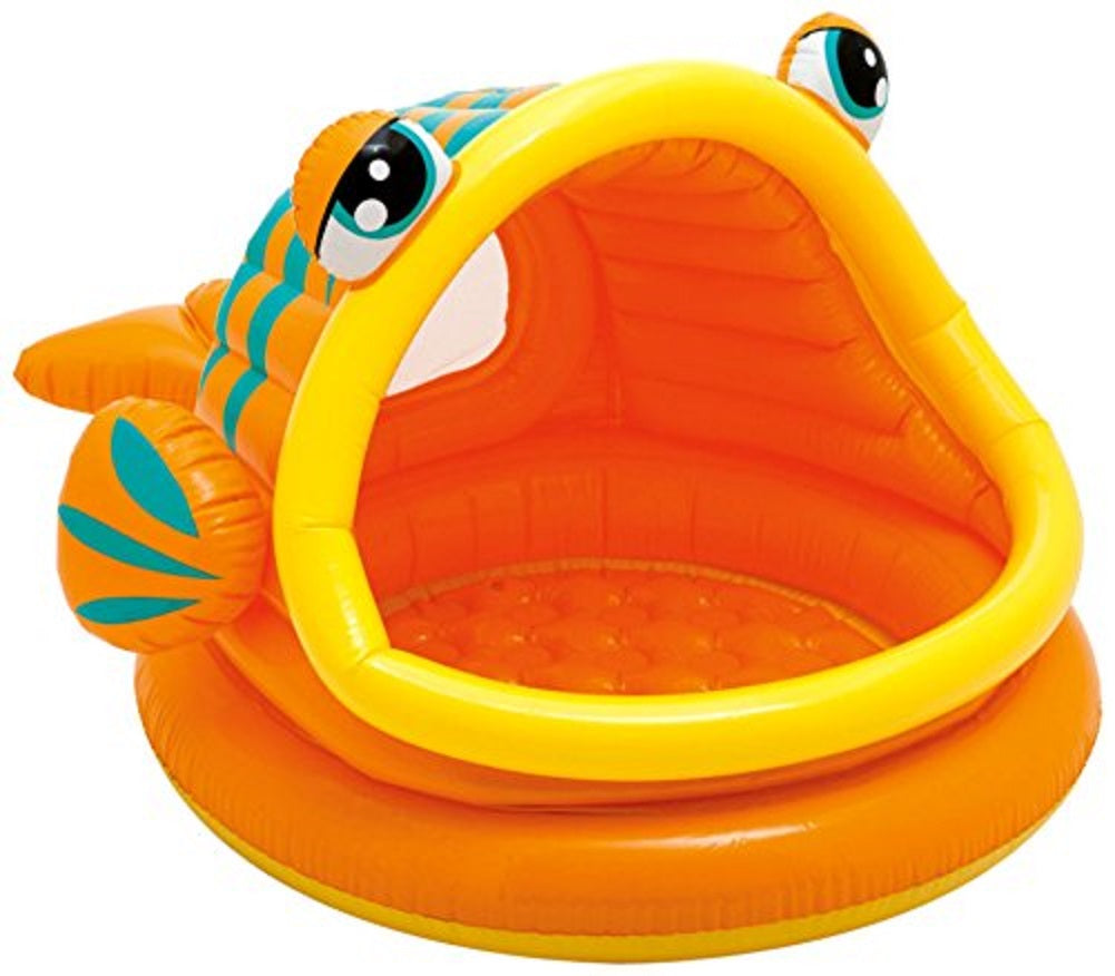 "Intex Lazy Fish Inflatable Baby Pool, 49"" X 43"" X 28"", for Ages 1-3"