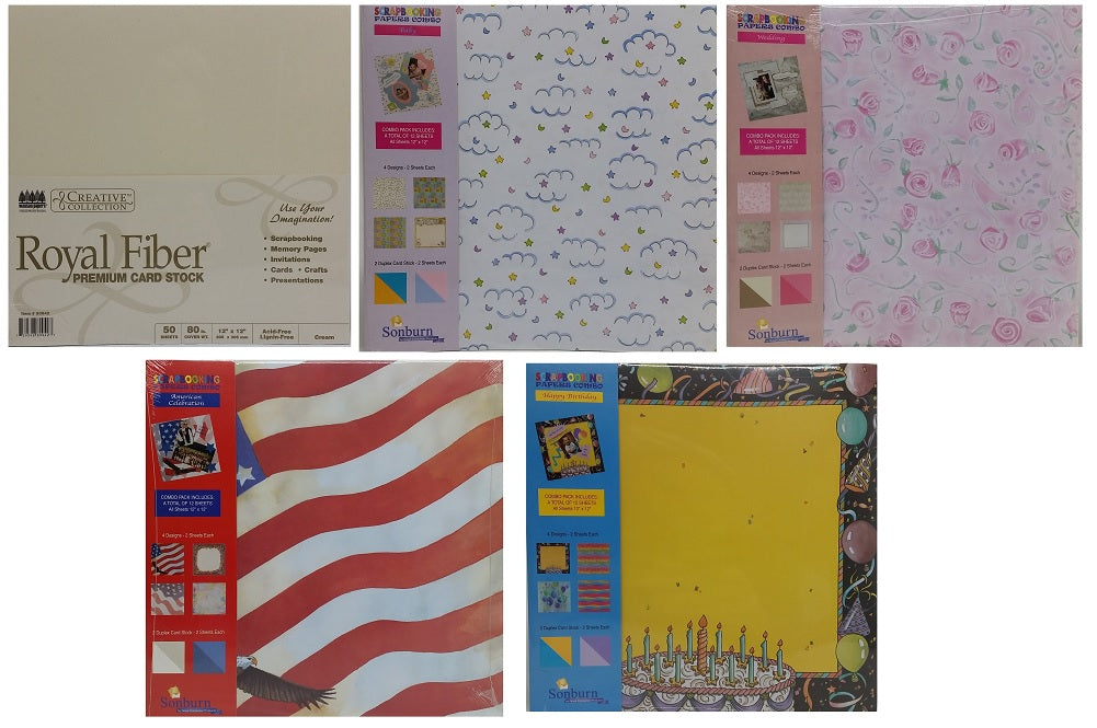 Sonburn Scrapbooking Papers Combo Paper Packs Baby American Celebration