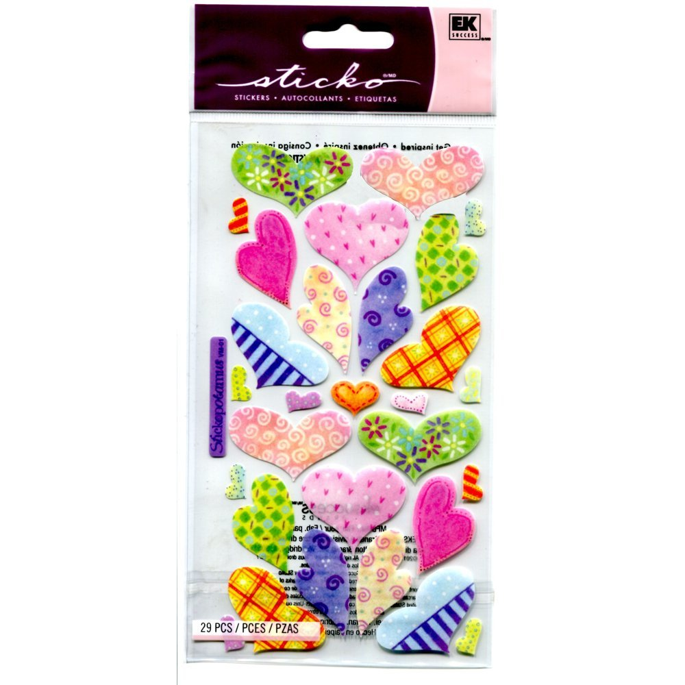Sticko Vellum Stickers - Pastel Hearts