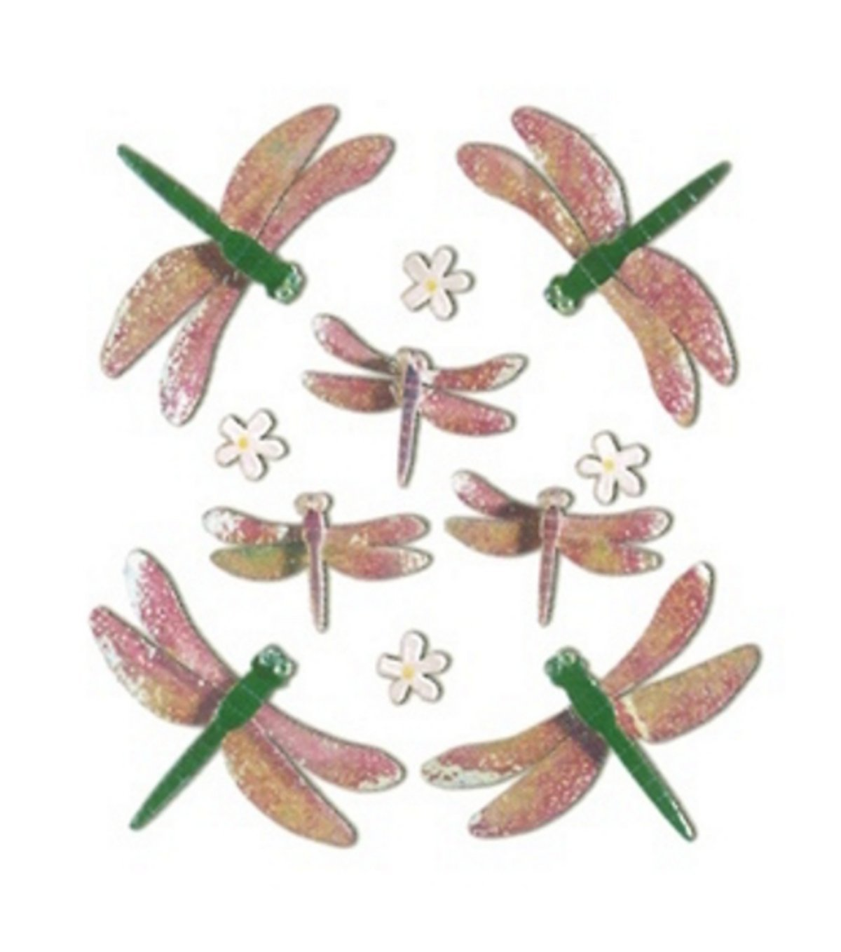 Jolees Boutique Themed Simple Stickers, Dragonflies