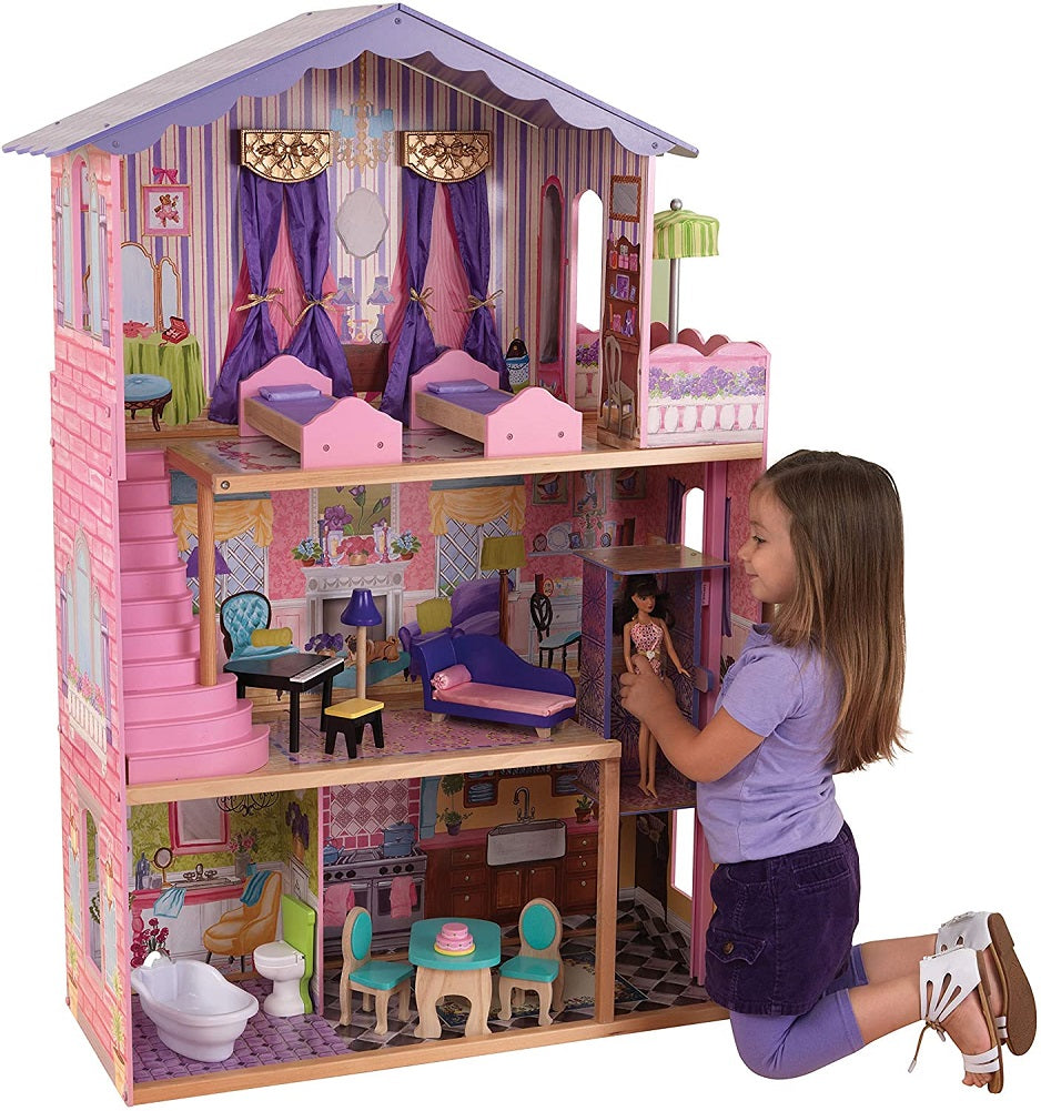 KidKraft My Dream Mansion Wooden Dollhouse with Elevator 13 Accessories