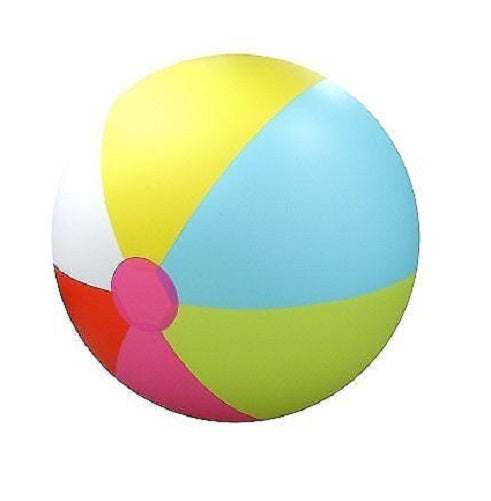 Giant Inflatable Over 6' Feet Tall Beach Ball (Rainbow)