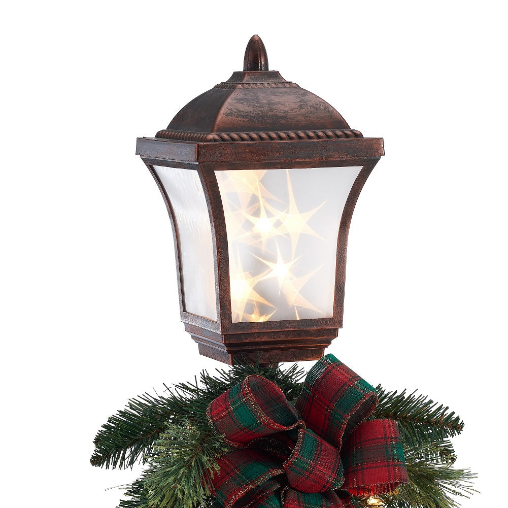 Holiday Time 6 Foot Pre Lit Victorian Christmas Lamp Post Tree Clear Lights