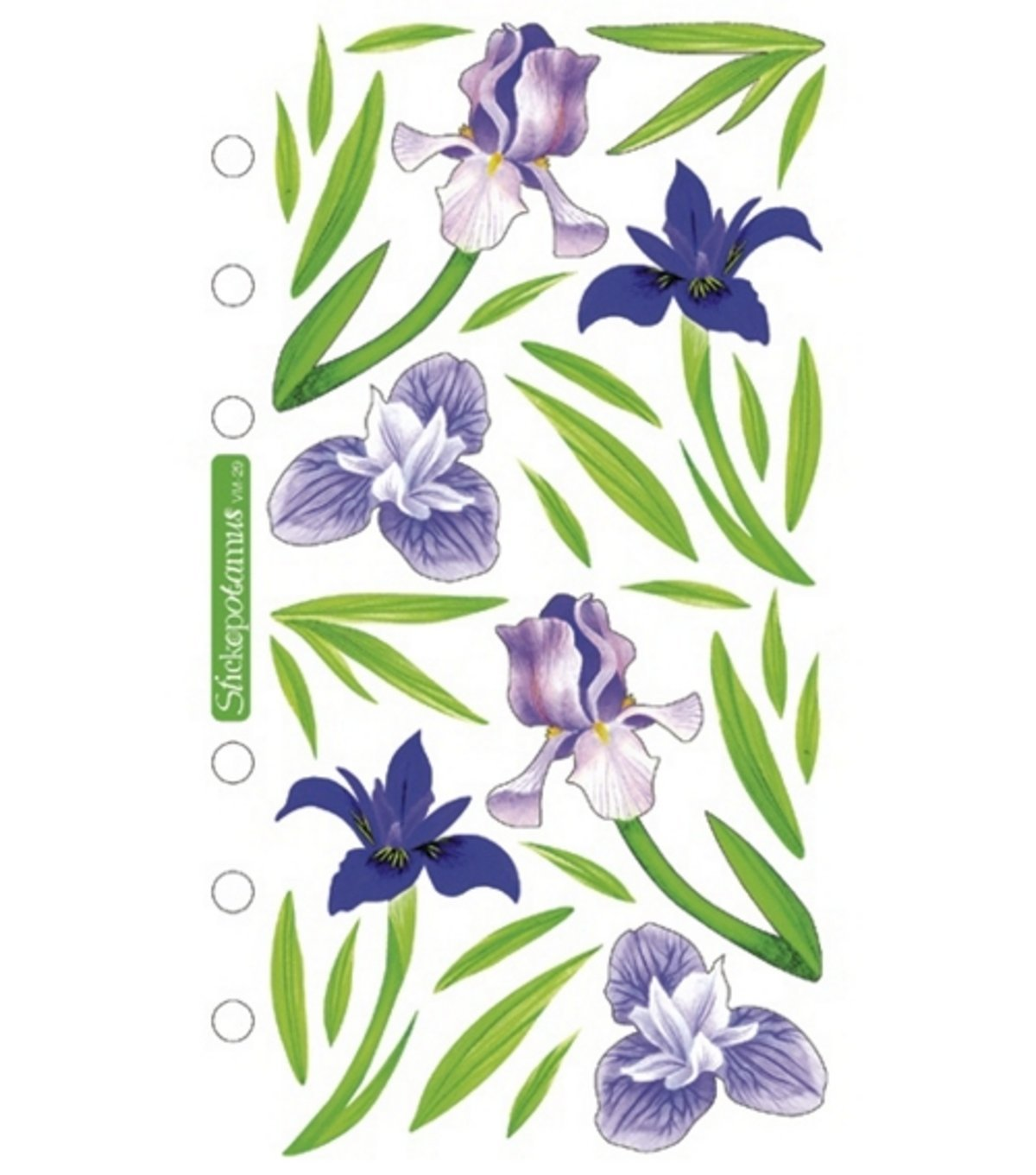 Sticko Vellum Stickers-Irises