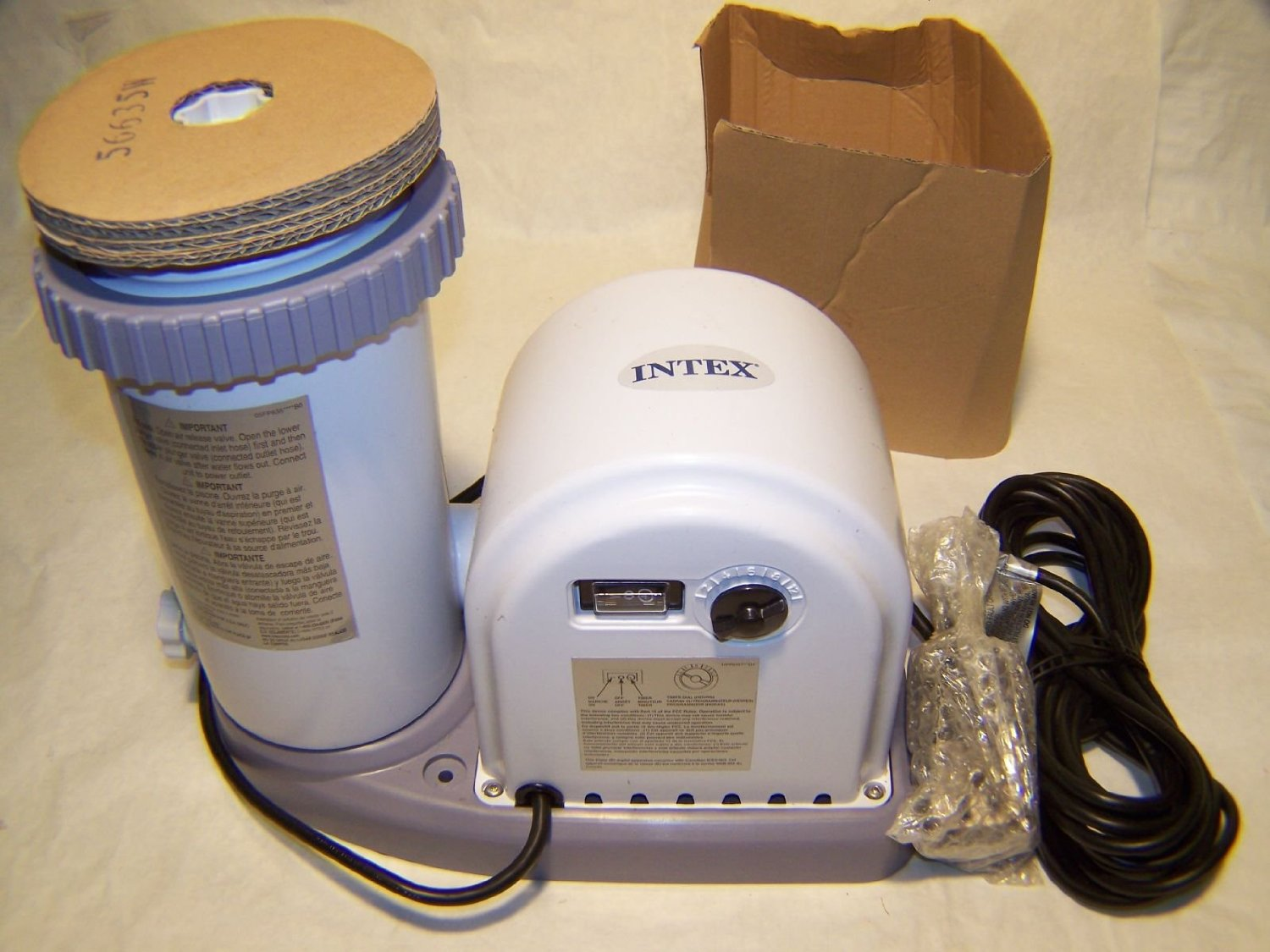 1500 gal/hr Intex Filter Pump, Krystal Clear Model 635 - Small Pump Upgrade P...
