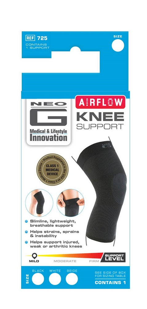 Neo G Airflow Knee Support, Black, Small