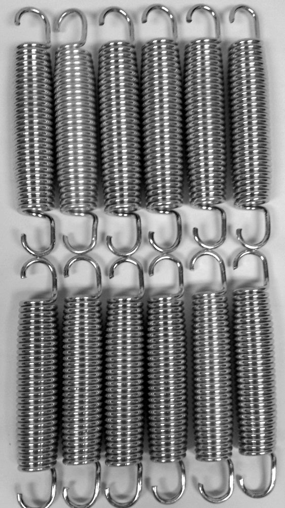 "BouncePro 7"" Replacement Trampoline Springs, Silver (12 Count)"