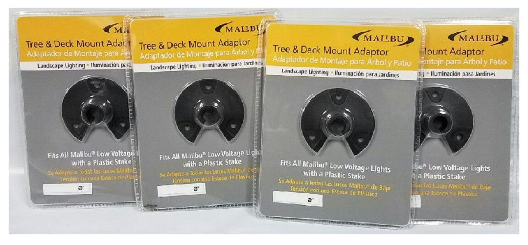 8101-4810-01 Malibu Landscape Lighting Tree/Wall/Deck Mount Adapter (Pack of 4)
