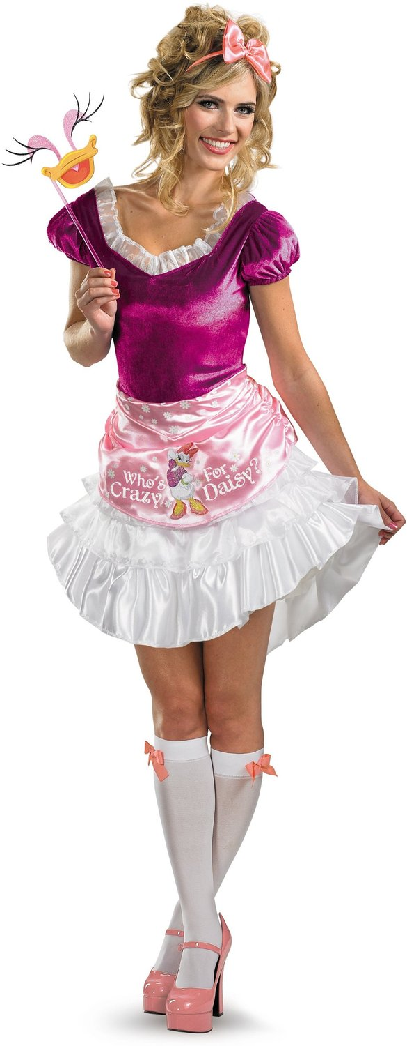 Disguise Daisy Duck Sassy Adult Halloween Costume, Small (4-6)