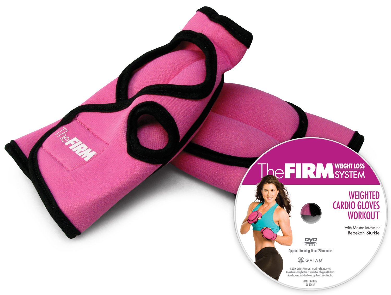 The Firm Weighted Cardio Gloves Kit with DVD