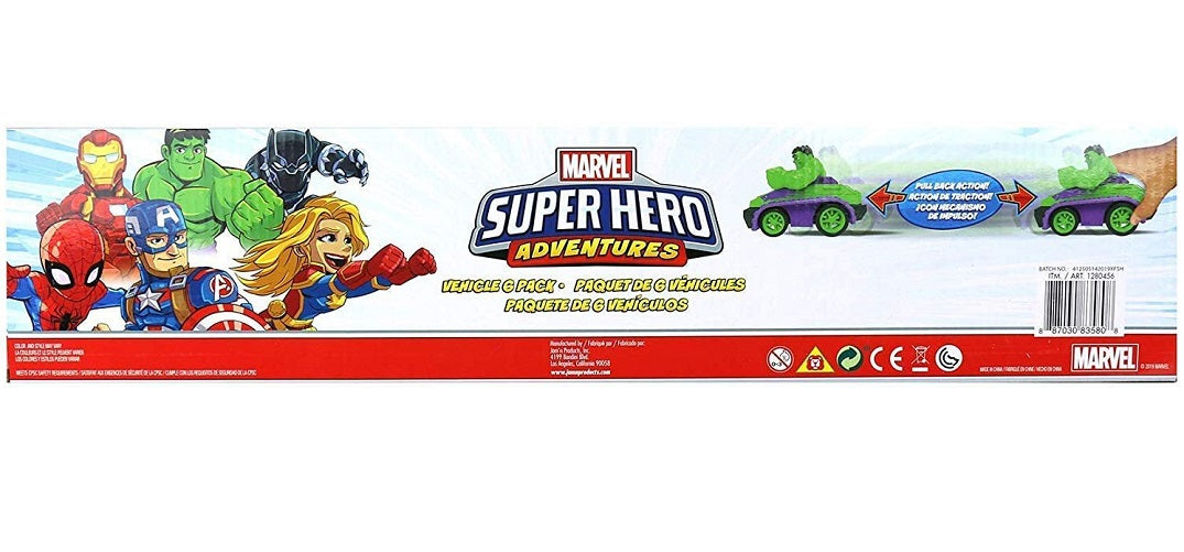Marvel Super Hero Adventures 6-Pack Vehicle Set