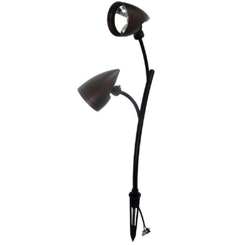 Malibu Aurora Collection Dual Head LED Landscape Spotlight